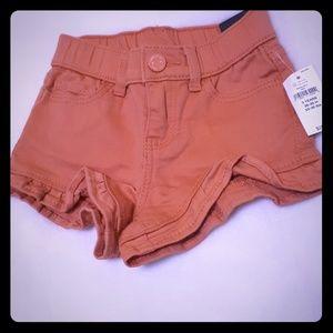 NWT Pink denim strechy shorts pull ons